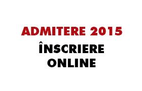 admitere 2015 - inscriere online