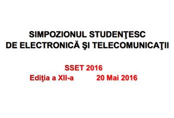simpozionul studentesc de electronica si telecomunicatii