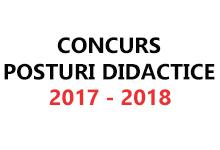 concurs posturi didactice 2017/2018