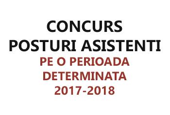 concurs asistenti pe o perioada determinata 2017/2018