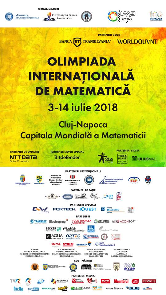 utcn partener la olimpiada internationala de matematica