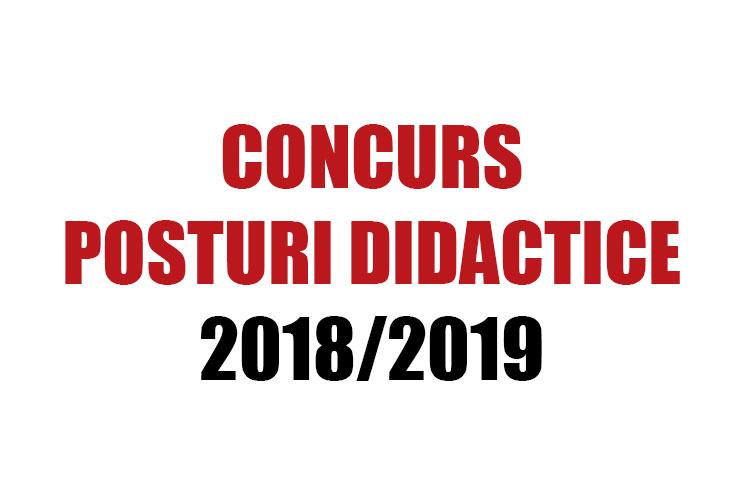 concurs posturi didactice 2018/2019