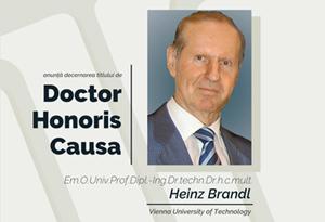 ceremonia de decernare a titlului dhc dlui prof. heinz brandl