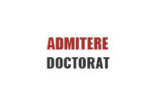 admitere doctorat