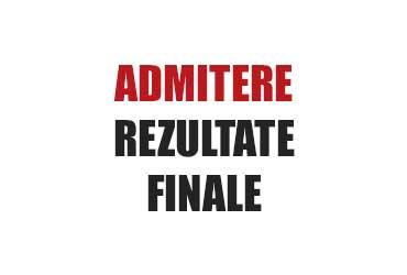 admitere 2019 - rezultate finale