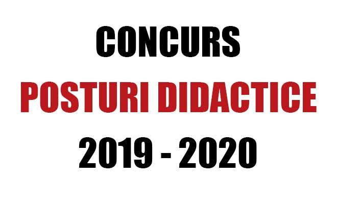 concurs posturi didactice 2019-2020