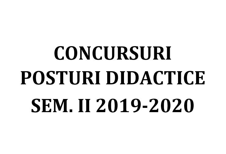 concurs posturi didactice 2020 sem. ii