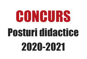 concurs posturi didactice 2020-2021 sem. ii