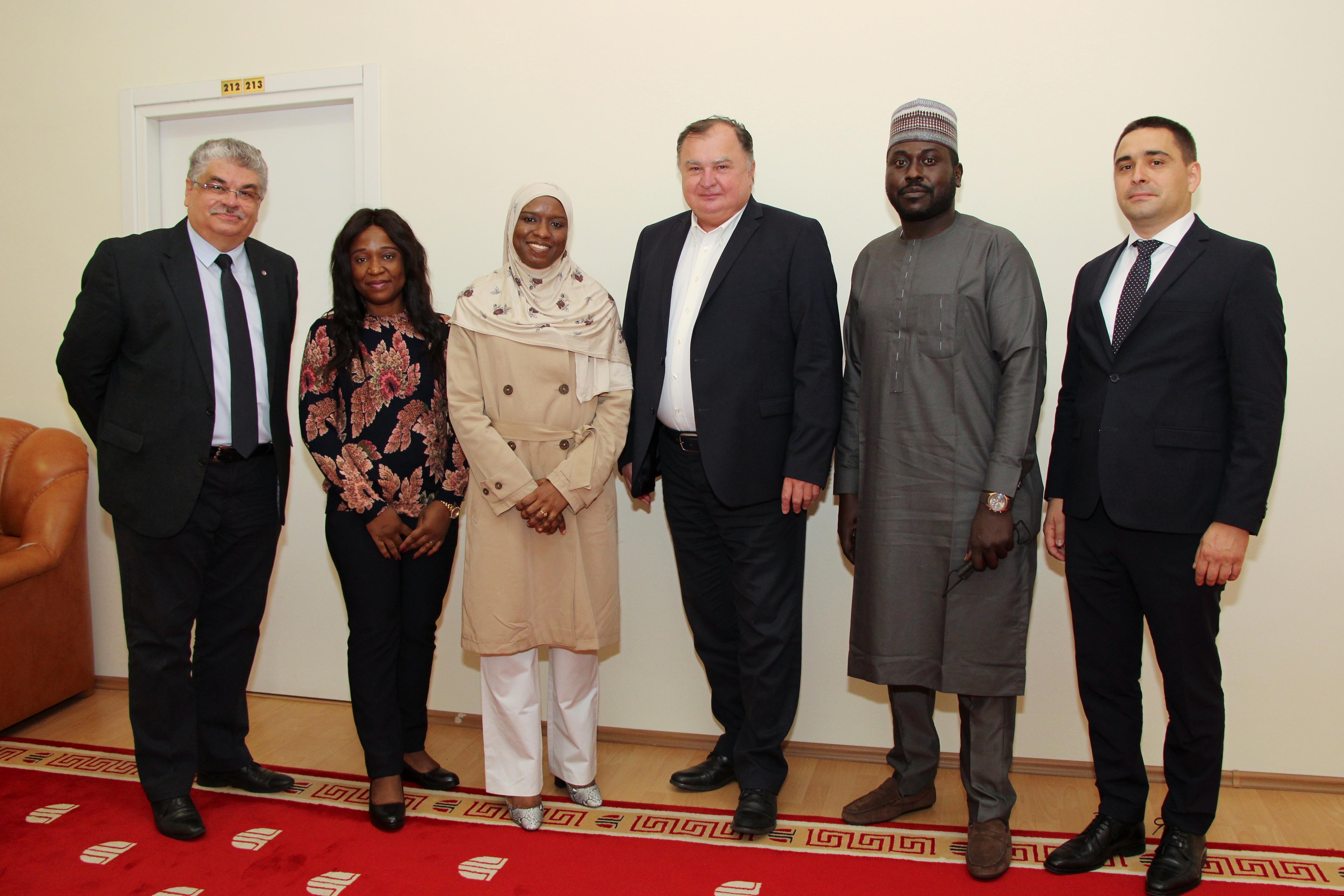 doamna ambasador a republicii federale nigeria, safiya ahmad nuhu, în vizită la utcn