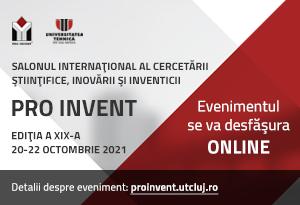 salonul proinvent, 20 - 22 octombrie 2021, online